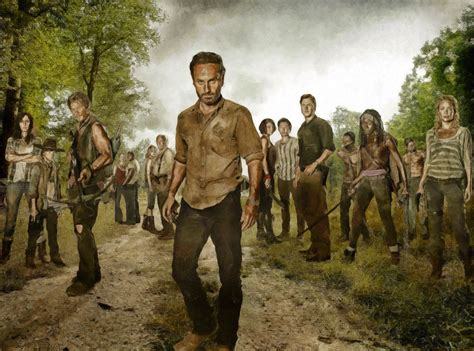 Poster Serial Tv The Walking Dead Cast 2 40x60cm the walking dead poster gallery3 tv series posters and cast