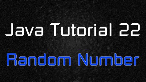 java tutorial random java tutorial 22 math random lottery game random number