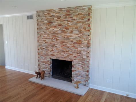 Old Brick Fireplace Re Facing   Traditional   Chicago   by
