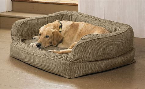 large memory foam dog bed dog beds for large dogs comfortfill wraparound fleece