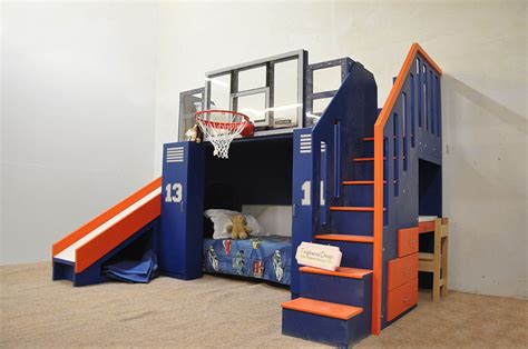 basketball beds the ultimate basketball bunk bed backboard slide and more