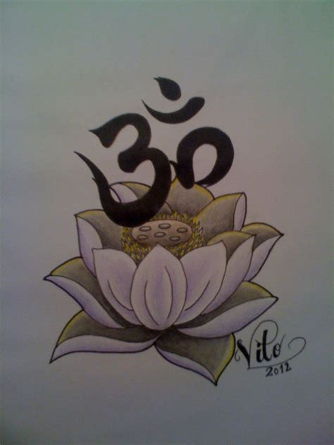 lotus and om by birdstickart on deviantart