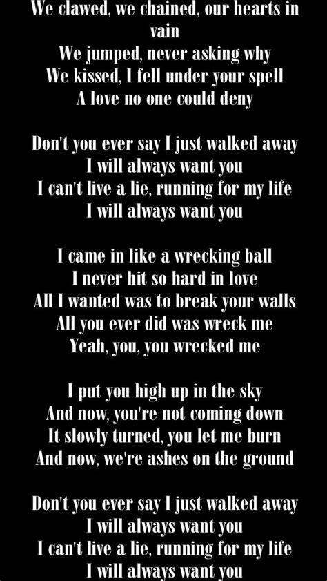 Miley Cyrus - Wrecking Ball | Music lyrics, Words, Miley