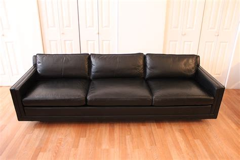 Harvey Probber Black Leather Sofa Harvey Leather Sofa