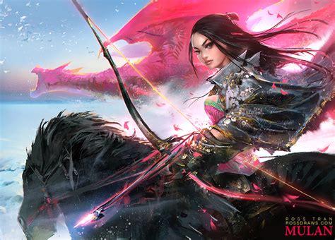 woman warrior 2 youtube epic mulan youtube by rossdraws on deviantart