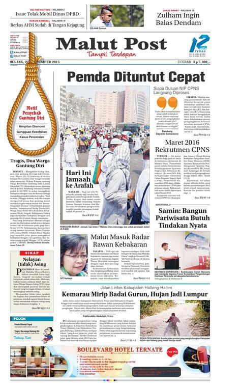 Lu Tl Gantung malut post 22 september 2015 by malut post issuu