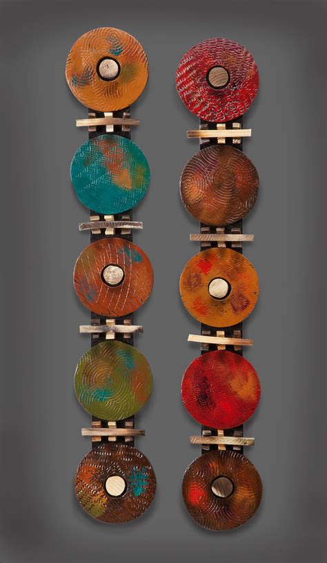 circle modern  rhonda cearlock ceramic wall sculpture