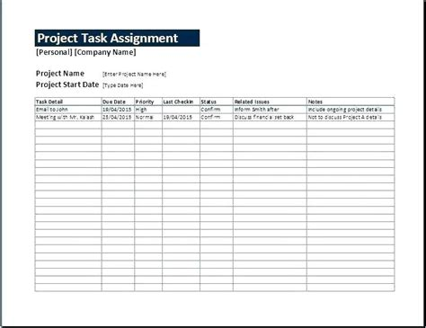 Project Task List Template Excel Assignment Management Sheet Word Templates Do Sle Strand And Sle Project Task List Template