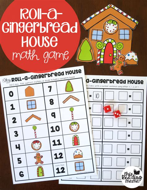 printable gingerbread dice game roll a gingerbread house math game this reading mama