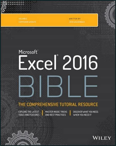 tutorial excel 2016 pdf excel 2016 bible pdf free download