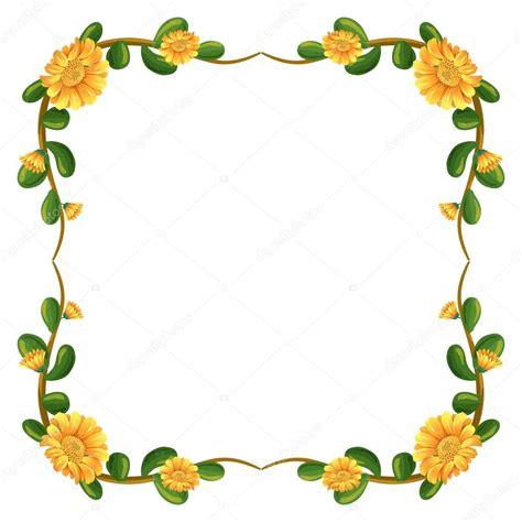 border design flower yellow uma borda floral com flores amarelas vetor de stock