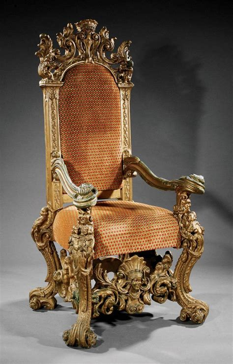 large throne chair a monumental italian baroque style carved giltwood throne