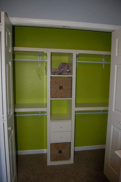 Wall Closets Ikea by Space Maximizing Closet Idea Using Ikea Expedit Amp Wall