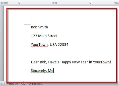 how to create merged letters with ms word 2010 s mail