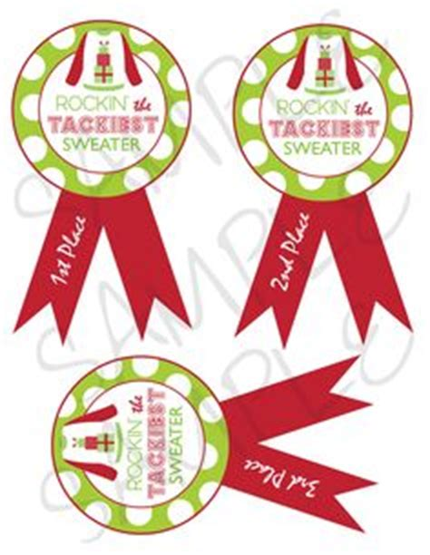 printable ugly christmas sweater awards 1000 images about ugly sweater christmas on pinterest