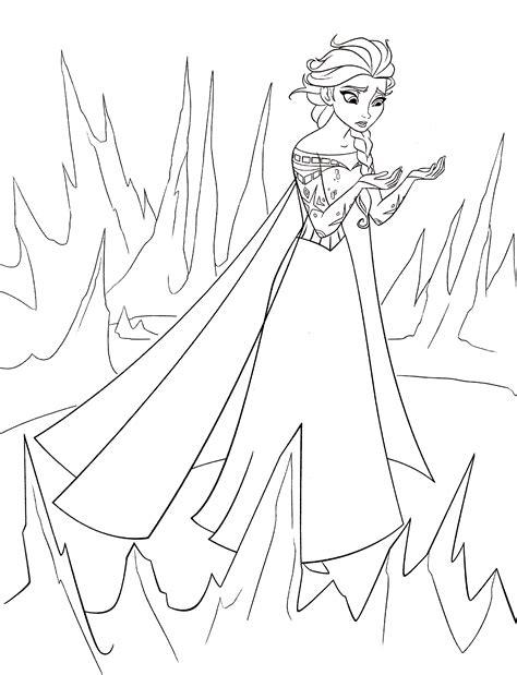 coloring page queen elsa walt disney coloring pages queen elsa walt disney