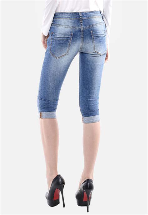 Celana Wanita Biru Muda Ntf celana biru muda slim fit premium