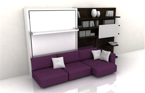Functional Bedroom Furniture Functional Furniture With Folding Bed For Small Living Room Swing By Clei Digsdigs