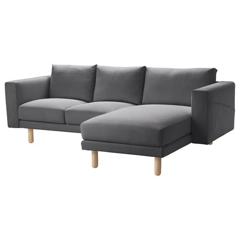 grey chaise sofa ikea norsborg two seat sofa with chaise longue finnsta