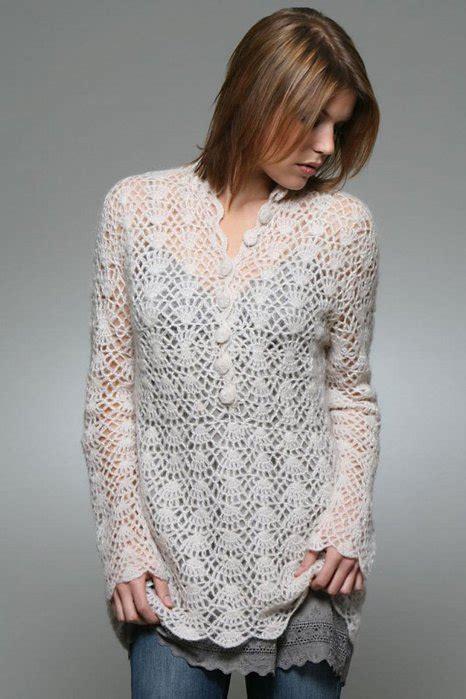How To Make Handmade Sweater - lace sweater crochet patterns make handmade crochet craft