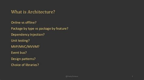 Why Is Architecture Considered Android Architecture Components Considered Harmful