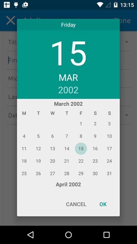 how do i make my own calendar java android marshmallow custom calendar date picker