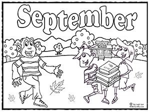 september coloring pages preschool kids educational music months coloring pages teacher