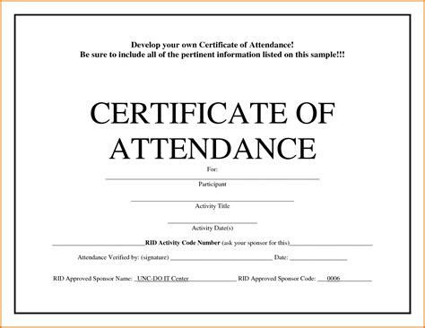 Letter Certificate Of Attendance Certificate Of Attendance Templatereference Letters Words Reference Letters Words