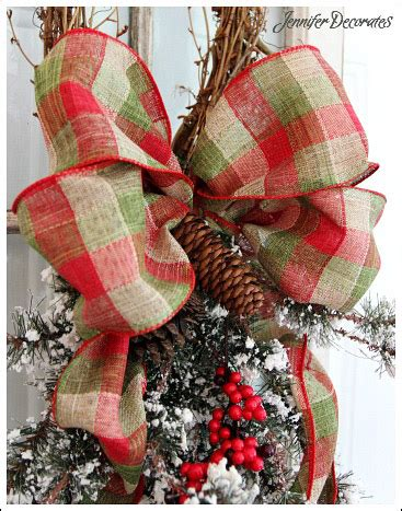 christmas bow you can make yourself step by step tutorial