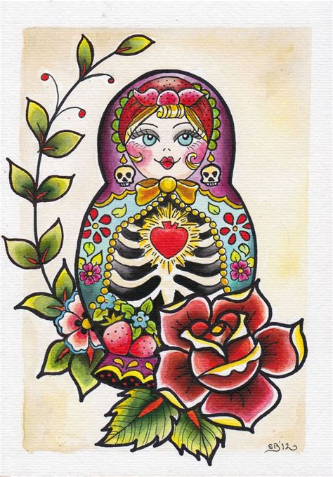 babushka doll tattoo designs 37 best matryoshka tatoo images on matryoshka
