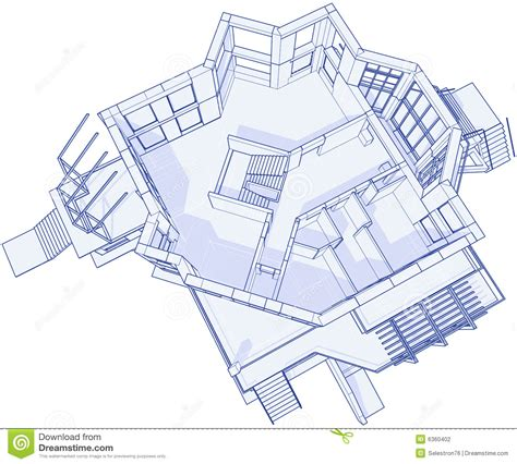 blueprint house plans modern house blueprint stock photography image 6360402