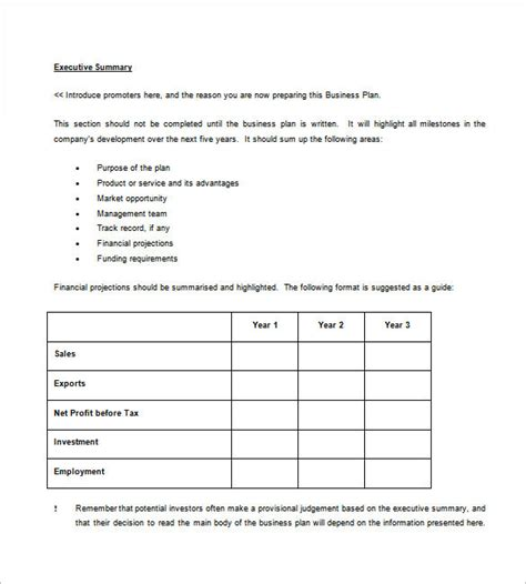 business plan template free business plan template 97 free word excel pdf psd