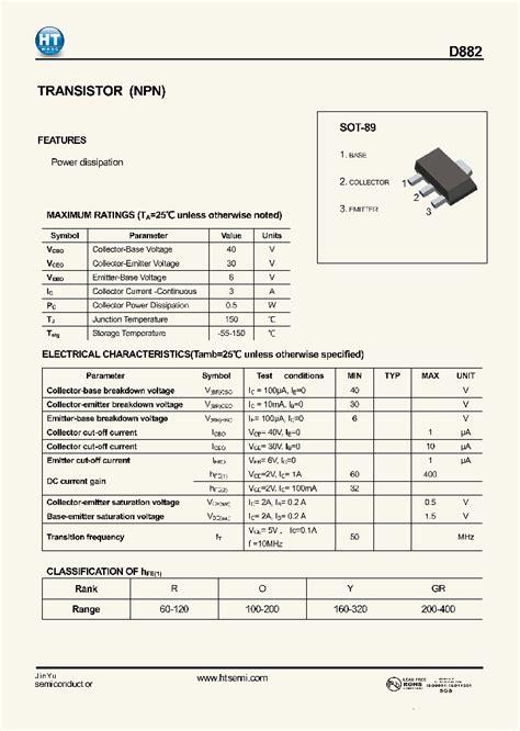 transistor npn datasheet pdf d882 3535545 pdf datasheet ic on line