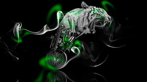 Kaos 3d Tiger Neon 70 entries in green tiger wallpapers