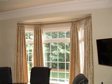 curtain window curtain rods for bay windows homesfeed