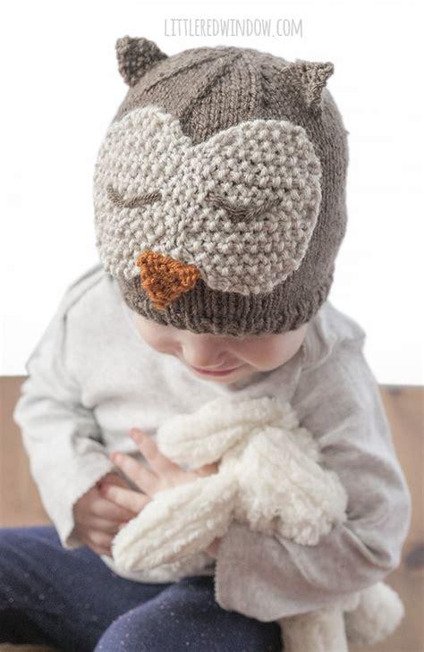 Sleepy Owl sleepy owl hat knitting pattern window