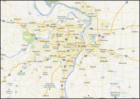 map of st louis mo map of st louis mo pictures to pin on pinsdaddy