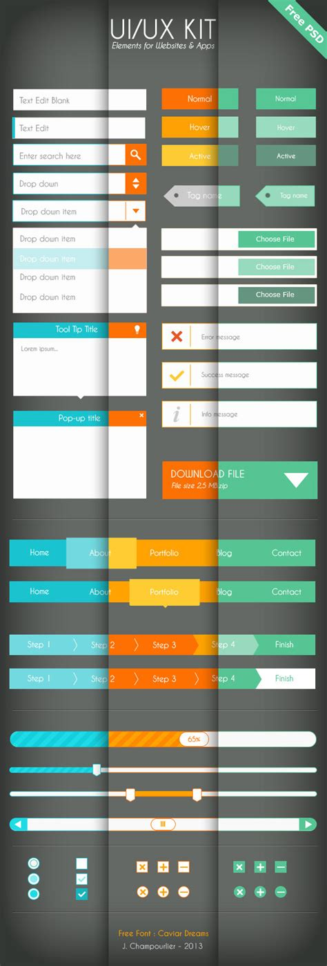 download pattern ui 50 best free psd flat ui kits designmaz