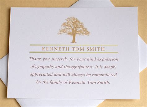 personalized funeral thank you cards free card design ideas