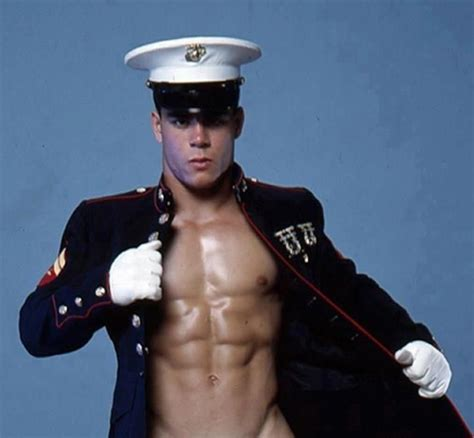 hot marine men sexy shirtless marine wearing blue uniform coat and white