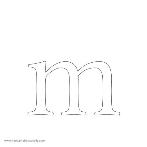 printable upper and lowercase letter stencils image gallery lowercase m