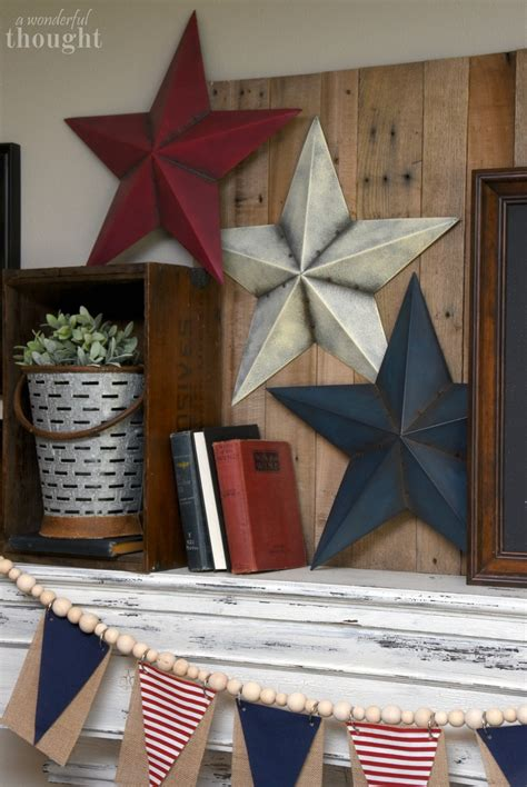 15 diy patriotic home decor ideas mm 158 domestically patriotic 4th of july mantel a wonderful thought