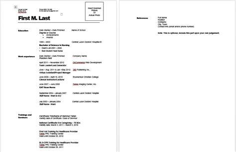 mga format ng resume paano gumawa ng resume sle template halimbawa ng resume