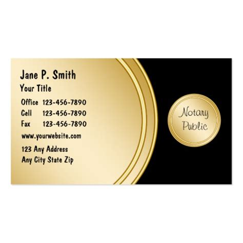 notary business cards templates create your own clerk business cards