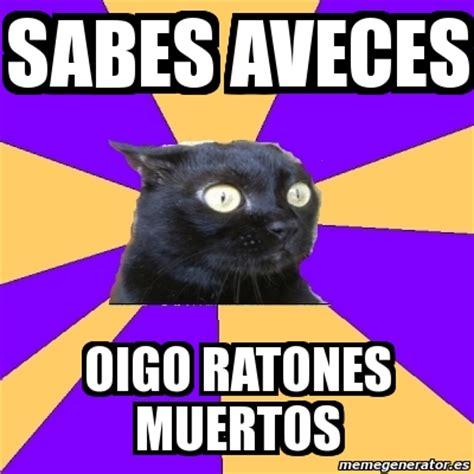 Anxiety Cat Meme Generator - meme anxiety cat sabes aveces oigo ratones muertos 907475