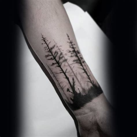 small wrist tattoos men 60 forearm tree designs for forest ink ideas