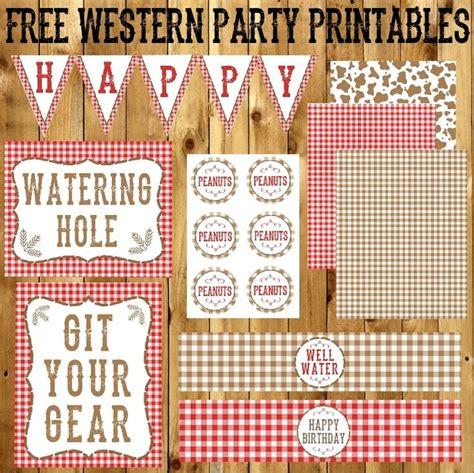 printable western party decorations 25 unique western party decorations ideas on pinterest