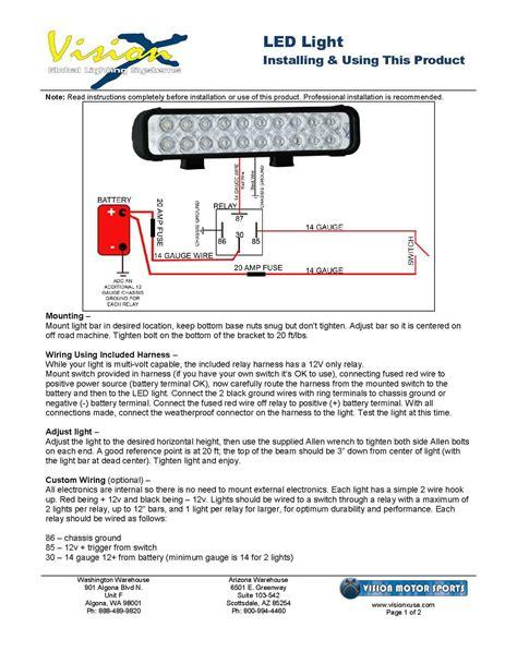 generic led light installation vision x usa