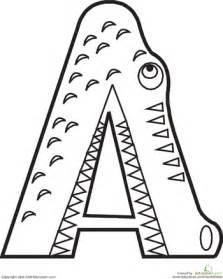 Color the alphabet animals printables 4 mom