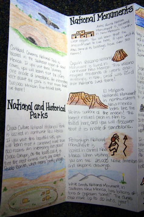 How To Make A Travel Brochure With Paper - the inspired classroom state brochure